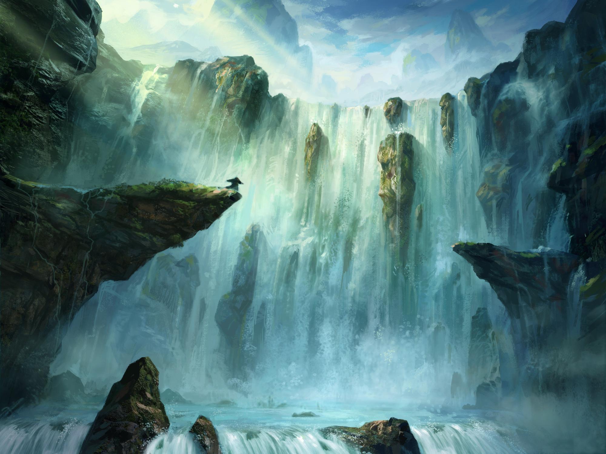 壁纸 风景 旅游 瀑布 山水 桌面 2000_1500